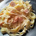 recette Tagliatelles à la carbobara de saumon et mascarpone