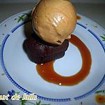 recette FONDANT AU CHOCOLAT, GLACE CARAMEL AU BEURRE SALE