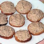 recette Mousseline de saumon sur toast