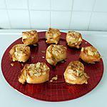 recette Escargots en feuille de brick à la frangipane.
