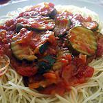 """recette """" Spaguettis sauce tomates.... courgettes... au bon goût d'origan..."""""""