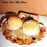 recette Coquille Saint-jacques sur fondue de poireaux