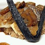 recette Tranche de cabillaud en écailles de châtaignes, jus à l'huile vanillée
