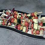 recette Brochettes de légumes pour Plancha
