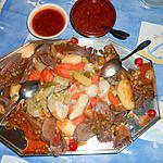 recette Langue de boeuf avec ses legumes et sa sauce charcutiére