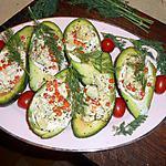 Avocats aux oeufs de saumon