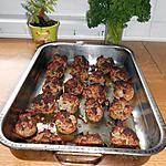 recette Mes champignons farcis.