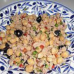 recette salade de pois chiche au thon