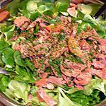 salade de mâche au foie confits