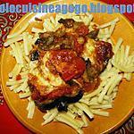 Pâtes et aubergine alla' parmigiana