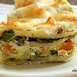 recette Lasagnes épinards-chèvre, carotte-courgette