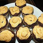 recette Cupcakes chocolat glacés beurre de cacahuètes