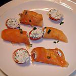 recette roulé de saumon fumé au fromage
