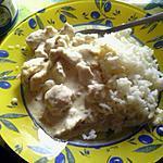 recette escalope sauce creme et riz blanc