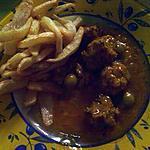 recette tagine kefta  au olive et frite