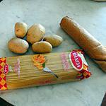 recette Pain et pâtes contre pommes de terre