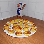 recette Bouchées apéritives aux lardons et curry.