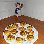recette Bouchées apéritives aux poireaux, crevettes et curry.