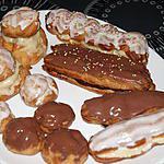 recette Choux et éclairs (garniture, crème, glaçage, chantilly, caramel, pièce montée....)