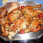 recette Poulet fermier roti avec rates au lard