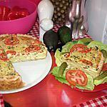 recette tarte aux poivron  pomme de terre et elle et vire ciboulette