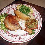 recette Cuisses de canard confites,avec pommes de terre au four