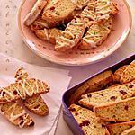 recette Cantuccini aux Cranberries, Pistaches et Chocolat Blanc