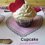 Cupcakes Chocolat Gingembre & Chantilly pour la Saint Valentin
