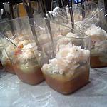recette Verrines tomate avocat miette de crabe