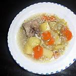 recette Bouillon de légumes à l'agneau