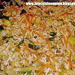 Riz et julienne de légumes parfumé à la coriandre