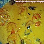recette Queues de Gambas sauce Saté