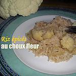 recette Riz épicée au choux fleur