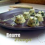 recette Beurre d'escargot