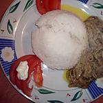 recette Aubergine au lait de coco au poisson frit