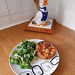recette Minis quiches sans pâte au roquefort et aux noix.