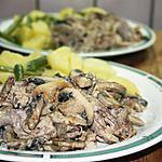 recette Porc rôti aux champignons