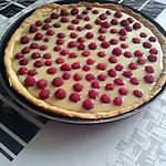 recette tarte au chocolat blanc et framboises