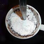 Cake mug chocolat amandes