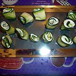 recette Roulé de courgette au boursin