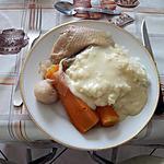 recette poule au pot et sauce ivoire