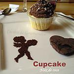 recette Cupcakes noix de coco & ganache au chocolat au lait {St Valentin}