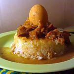 recette Porc caramélisé sur son nid d'oeuf