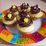 recette Cupcakes au chocolat blanc et philadelphia