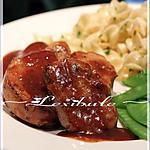 recette ~Médaillons de porc, sauce au jus de pomme~