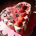 recette Coeur Valentin (tiramisu façon fraisier au rhum)