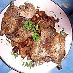 recette Perdreaux sur canapé aux marrons