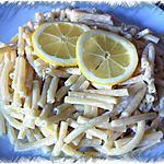 recette Macaronis sauce citronnée