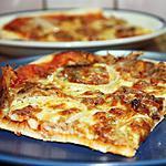 recette Pizza au porc rôti et oignon doux
