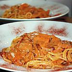 recette Spaghettoni crémeux all'Amatriciana